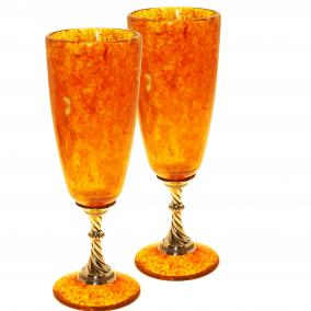Бокал для шампанского из янтаря, 150 мл от 23 420 руб