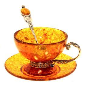 Кофейный набор из янтаря (3 предмета) от 20 620 руб