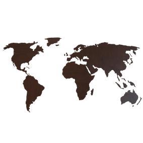 Деревянная карта мира 80х40 см (венге) от 990 руб