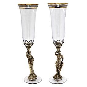 """Набор бокалов для шампанского """"Фортуна и Дионис"""" от 16 200 руб"""