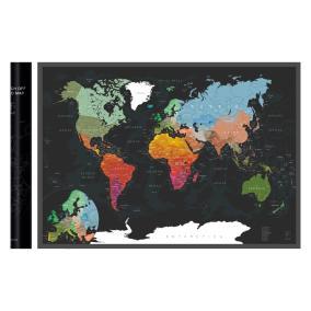 Скретч-карта мира A1 - 84 х 60 см (BLACK) от 890 руб