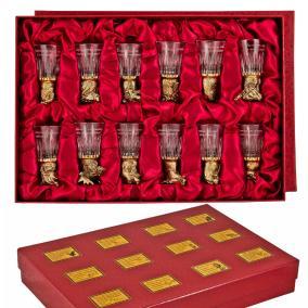 Подарочный набор стопок, со стеклянными чарками от 35 600 руб