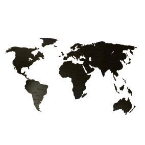 Деревянная карта мира 150х80 см Countries Rus с гравировкой стран и городов, черная от 2 490 руб