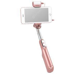 Монопод для селфи Bluetooth A6 (длина 87 см) с зеркалом и светодиодной вспышкой (розовое золото) от 1 741 руб