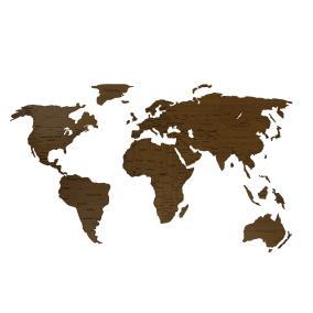 Деревянная карта мира 150х80 см Countries Rus с гравировкой стран и городов, орех от 2 490 руб