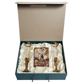 """Набор """"Свадебный"""" с бокалами Тет-а-Тет (бронза) от 26 500 руб"""