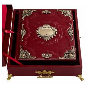 """Родословная книга """"Ювелирная"""" (экокожа, бронза, яшма, бук.ларец) от 28 500 руб"""