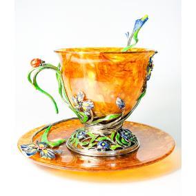 """Чайная чашка из янтаря """"Ирис"""" от 48 230 руб"""