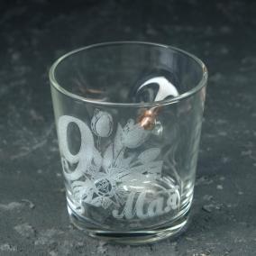 """Стакан Непробиваемый. """"9 мая"""" Тюльпан, с пулей, для виски, 250 мл от 750 руб"""