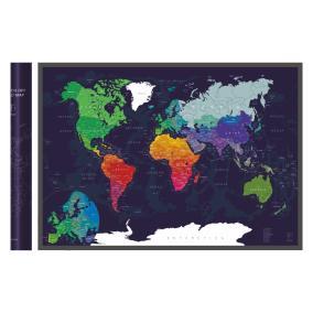 Скретч-карта мира A1 - 84 х 60 см (Blue) от 890 руб