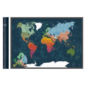 Скретч-карта мира A1 - 84 х 60 см (Deep Green) от 890 руб