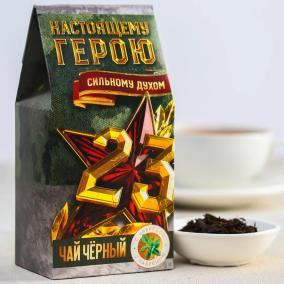 """Чай чёрный """"Настоящему герою"""" (с чабрецом) от 250 руб"""