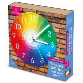 Набор для творчества Часы в технике декупаж Радужные от 790 руб