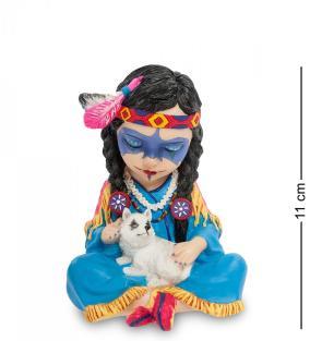 "Статуэтка в стиле Фэнтези ""Индейская девочка с волчонком"" от 1 950 руб"