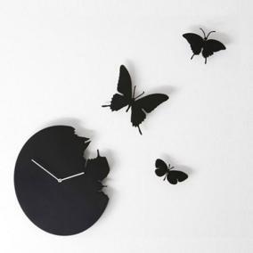 """Часы настенные """"Бабочки"""",черные от 12 000 руб"""