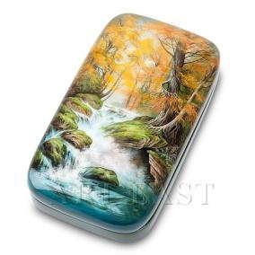 """Шкатулка Федоскино """"Водопад"""", худ. Ларина М. от 6 500 руб"""