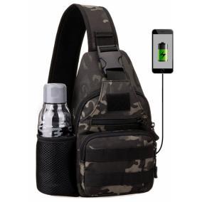 Сумка через плечо Delta c USB портом (dark camo) от 1 490 руб