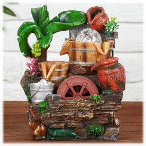 """""""Тропический рай"""" фонтан настольный декоративный с подсветкой от 2 490 руб"""