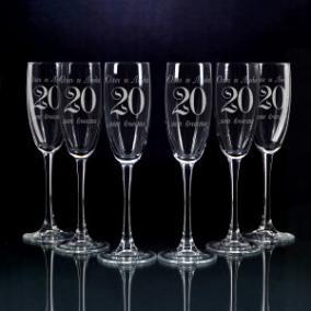 Набор из 6-ти фужеров «С годовщиной свадьбы» от 2 590 руб