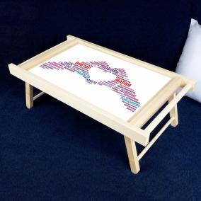 Столик для завтрака в постель «Одна любовь на двоих» от 1 190 руб