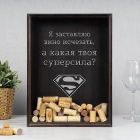 Копилка для пробок (бук) «Суперсила» от 2 790 руб