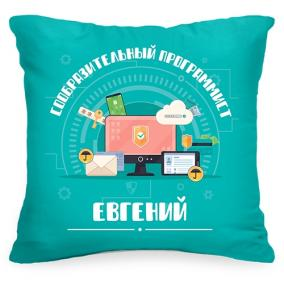 Именная подушка «Сообразительный программист» от 1 560 руб