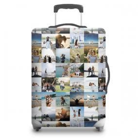 Чехол для чемодана с Вашим фото «Яркий коллаж» от 1 960 руб