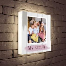 Светильник с Вашим фото и текстом «My Family» от 3 490 руб