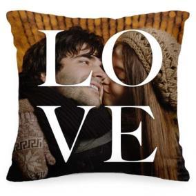 Подушка с Вашим фото «LOVE» от 1 460 руб