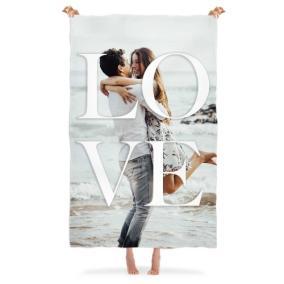Плед с Вашим фото «Love» от 3 480 руб