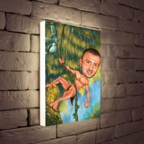 Светильник с портретом в образе по Вашему фото «Тарзан» от 7 380 руб
