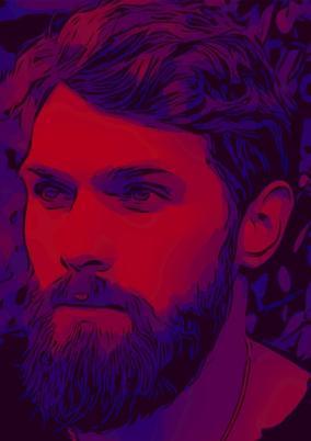 Цифровой портрет по Вашему фото «Purple neon» от 990 руб