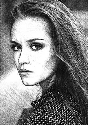 Цифровой портрет по Вашему фото «Чёрно-белое» от 990 руб