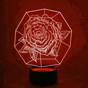 3D светильник «Роза» от 1 890 руб