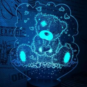 3D светильник «Мишка Тедди» от 1 890 руб