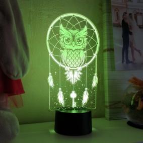 3D светильник «Сова - ловец снов» от 1 890 руб
