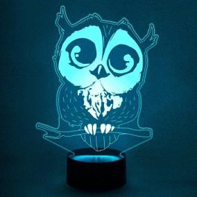 3D светильник «Совушка» от 1 890 руб