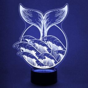 3D светильник «Хвост Кита» от 1 890 руб
