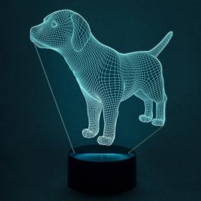 3D светильник «Собака» от 1 890 руб
