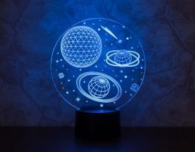 3D светильник «Космос» от 1 890 руб