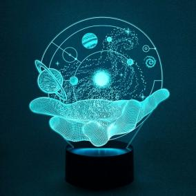 3D светильник «Вселенная на ладони» от 1 890 руб