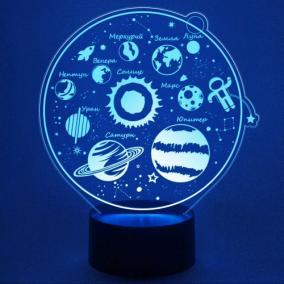 3D светильник «Солнечная система» от 1 890 руб