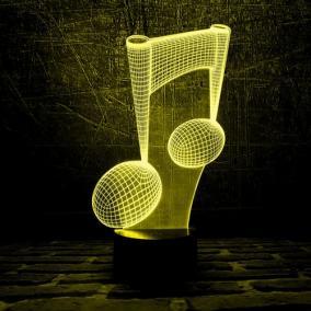 3D светильник «Нота» от 1 690 руб