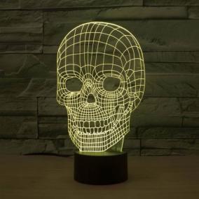 3D светильник «Череп» от 1 890 руб