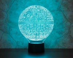 3D светильник «Звезда смерти» от 1 890 руб
