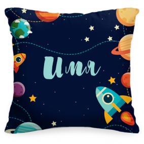 Именная детская подушка «Космос» от 1 460 руб