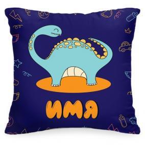 Именная детская подушка «Динозавр» от 1 460 руб