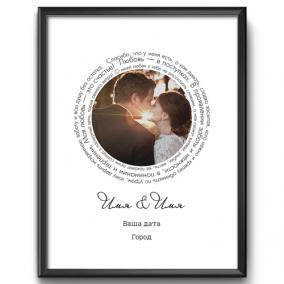 Постер с Вашим фото «Наша дата» от 1 460 руб