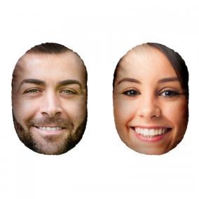 Парные подушки-головы с Вашим фото «Он и она» от 2 360 руб
