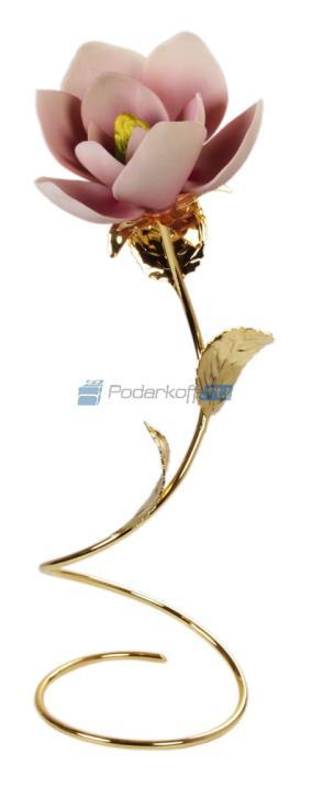 """Магнолия фарфоровая """"Луиза"""" на золотом стебле от 5 900 руб"""